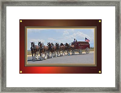 World Renown Clydesdales Framed Print by Kae Cheatham