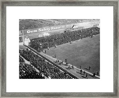 World Series Crowd At Ebbets Field Brooklyn 1920 Framed Print by Mountain Dreams