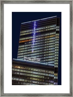 World Trade Center Mast Reflection Framed Print by Susan Candelario