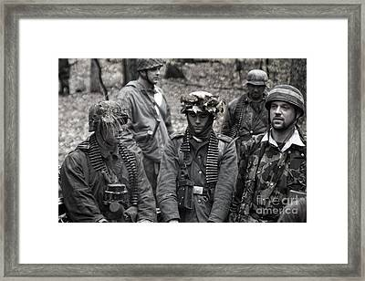 German Soldiers Ww2 Framed Print by Christopher Purcell