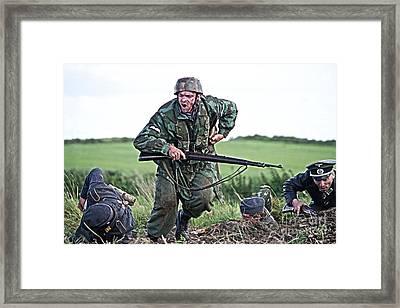World War 2 Re-enactor German Paratrooper Framed Print by Tony Black