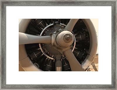 World War II Airplene Engine Framed Print by M K  Miller