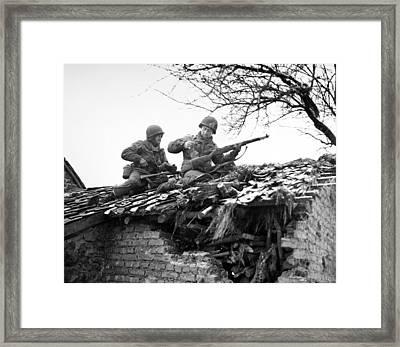 World War II: Belgium Framed Print by Granger