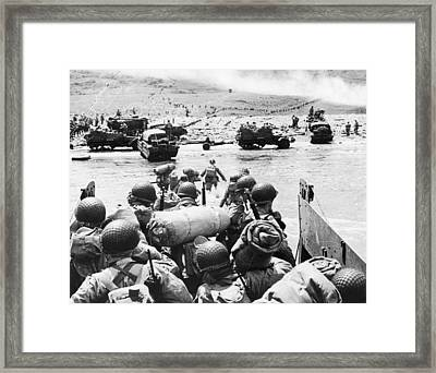 World War II: D-day, 1944 Framed Print by Granger