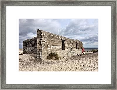World War Two Bunker On Grenen In Skagen Framed Print by Frank Bach