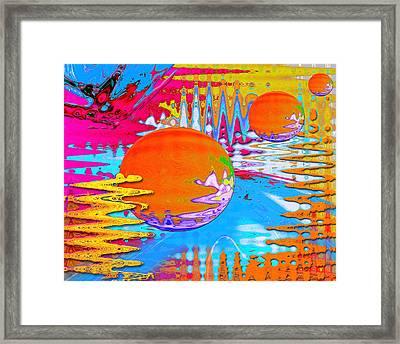 Worlds Apart Framed Print by Carl Hunter