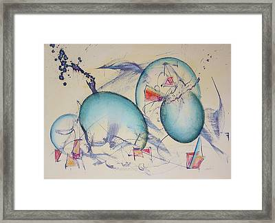 Worlds In Genesis Framed Print by Asha Carolyn Young