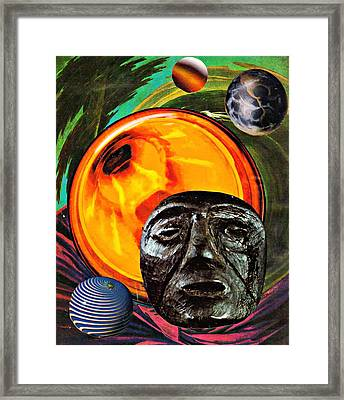 Worlds In Orbit Framed Print by Sarah Loft