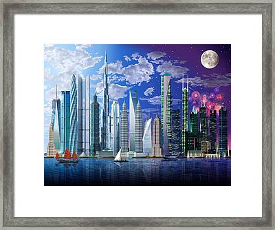 Worlds Tallest Buildings Framed Print by Garry Walton