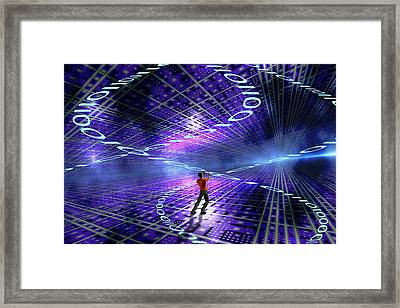 Worldwide Web Framed Print by Carol & Mike Werner