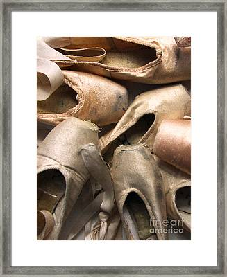 Worn Ballet Shoes Framed Print by Diane Diederich