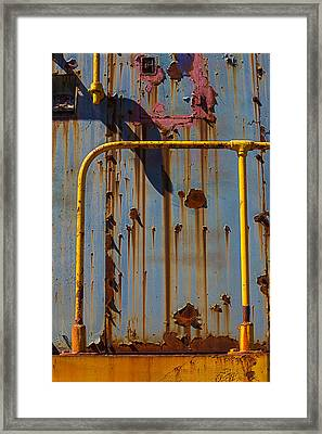 Worn Train Detail Framed Print by Garry Gay