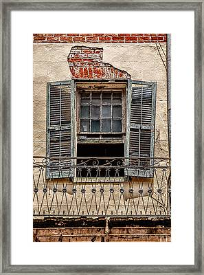 Worn Window Framed Print by Christopher Holmes