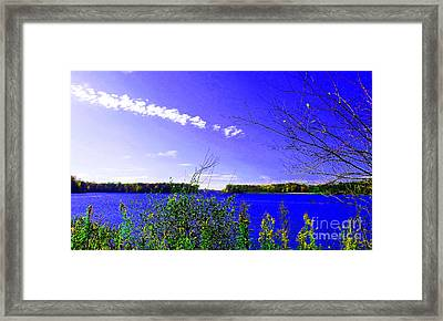 Worster Lake Autumn 2011 Framed Print by Tina M Wenger