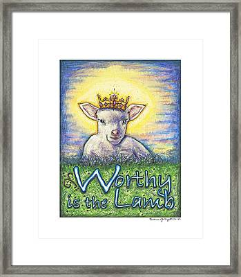 Worthy Is The Lamb Framed Print by Andrea Gray