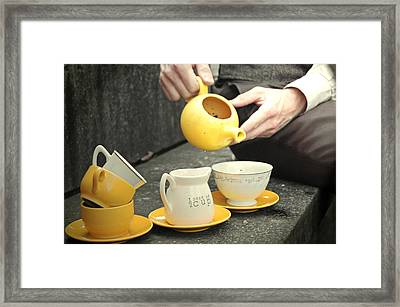 Would You Like A Little More Tea Framed Print by Tracy  Tanner