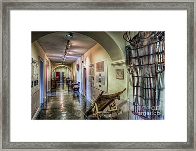 Woven Stretcher  Framed Print by Adrian Evans