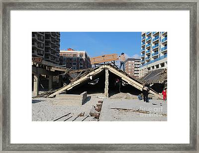 Wow What Water Can Do Framed Print by Dennis Curry