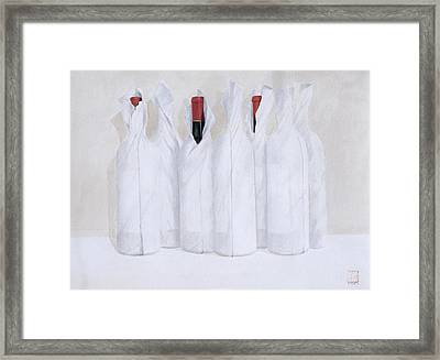 Wrapped Bottles 3 2003 Framed Print by Lincoln Seligman