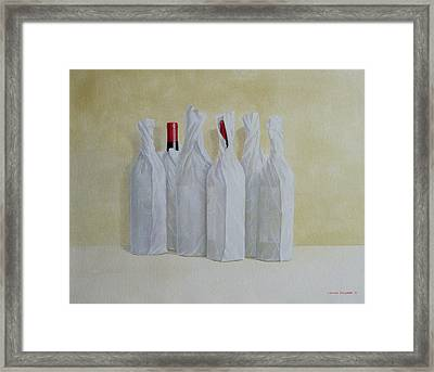 Wrapped Bottles Number 2 Framed Print by Lincoln Seligman