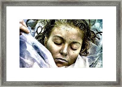 Wrapped In Plastic Framed Print by Luis Ludzska