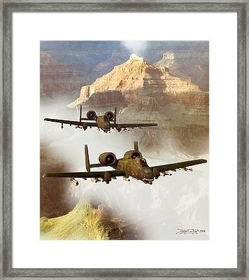 Wrath Of The Warthog Framed Print by Dieter Carlton