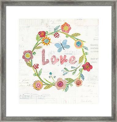 Wreath Inspiration I Framed Print by Courtney Prahl