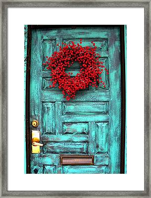 Wreath Of Berries Framed Print by Chris Berry