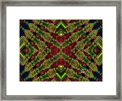 Wreathing Framed Print by Janet Russell