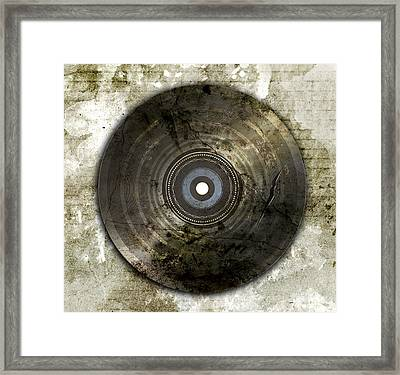 Wrecked And Old Vinyl Record Framed Print by Ratchapon Yanyongdecha