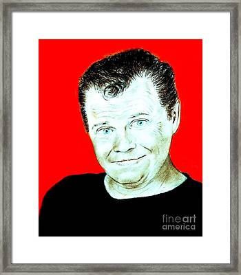 Wrestling Legend Jerry The King Lawler II Framed Print by Jim Fitzpatrick