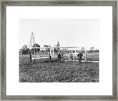 Wright Flyer II-iii And Catapult Framed Print by Library Of Congress