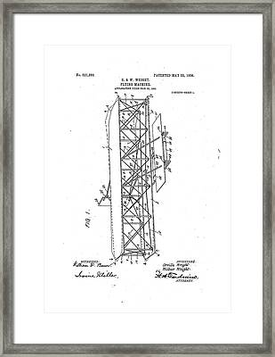 Wright Flyer Patent Framed Print by Us National Archives