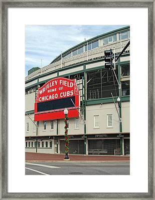 Wrigley Field Framed Print by Skip Willits