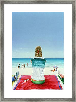 Wrigley Gum Girl II Framed Print by Lincoln Seligman