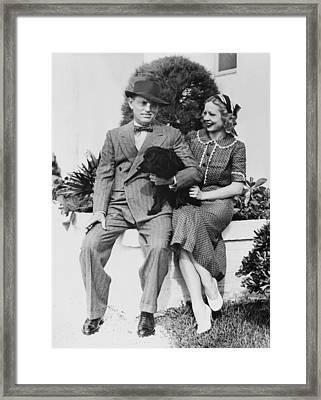 Writer Damon Runyon Framed Print by Underwood Archives