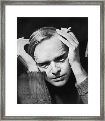 Writer Truman Capote Framed Print by Roger Higgins