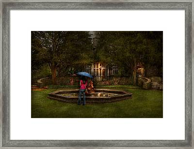 Writer - Wating For Him  Framed Print by Mike Savad