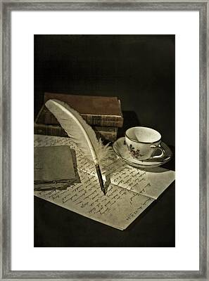 Writing Framed Print by Joana Kruse