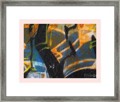 Writing On The Wall 2 Framed Print by Sara  Raber