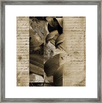 Written II Framed Print by Yanni Theodorou