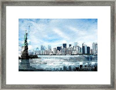 Wrong Expectations New York City Usa Framed Print by Sabine Jacobs