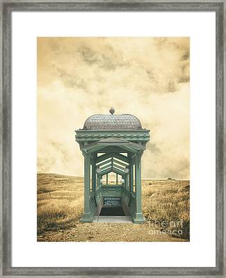 Wrong Train Right Station Framed Print by Edward Fielding