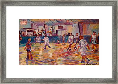 Wrong Way At Dominion Skating Rink Framed Print by Kendall Kessler