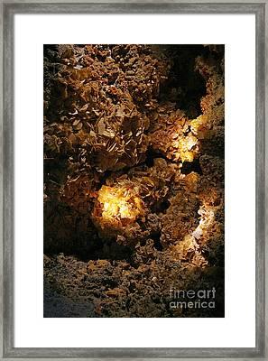Wulfenite Cave Framed Print by Afrodita Ellerman