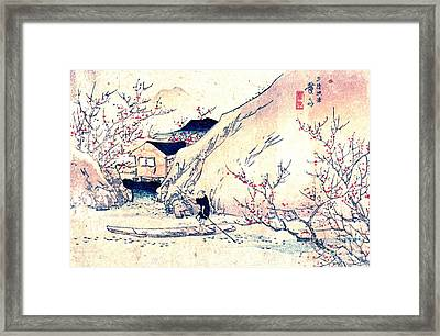 Wuling Peach Orchard 1830 Framed Print by Padre Art