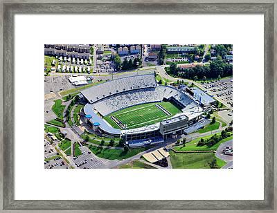 Wvu Mountaineer Stadium Aerial Framed Print by Mattucci Photography