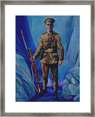 Ww 1 Soldier Framed Print by Derrick Higgins
