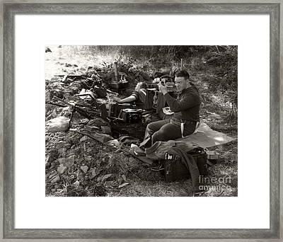 Ww2. British Soldier 2 Framed Print by Ladi  Kirn