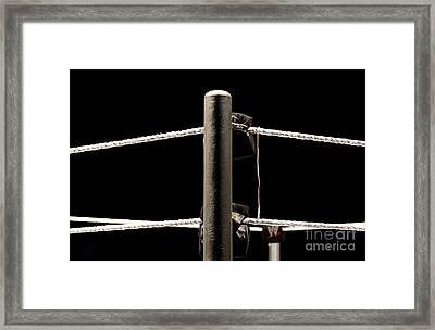 Wwe Ringside Framed Print by Paul  Wilford